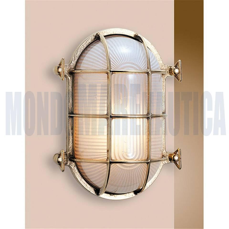 lampada tartaruga ovale ottone lucido in vendita lampade